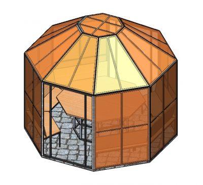 Беседка для дачи многоугольная