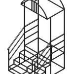 Крыльцо 4 ступени с площадкой и козырьком