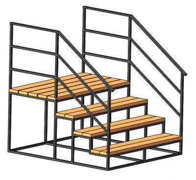 Крыльцо 4 ступени с площадкой