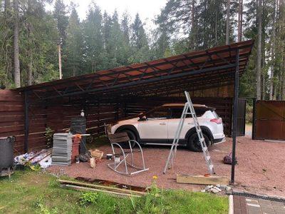 Навес для автомобиля 6 х 6 метров