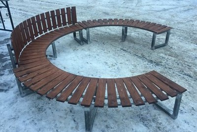 Скамейка радиусная полукруглая