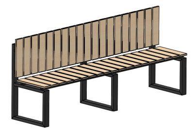 Скамейка прямая
